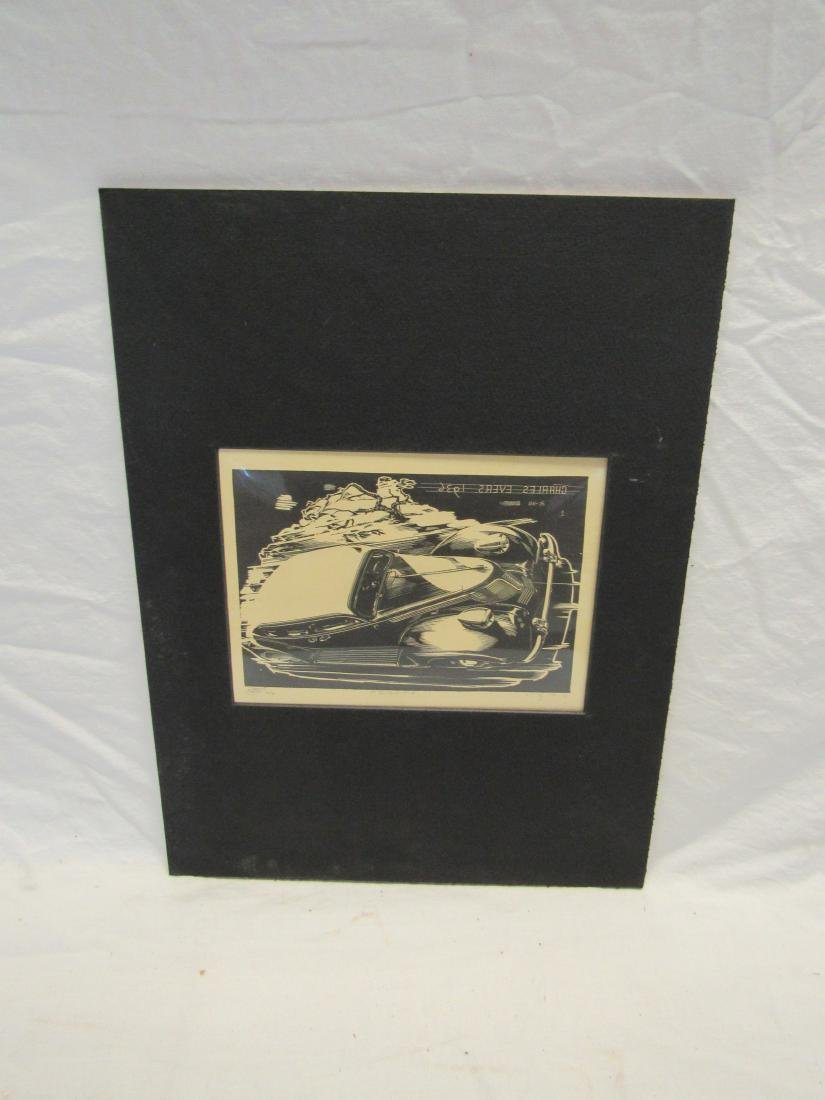 Earl Washington Wood Block Print, Desoto