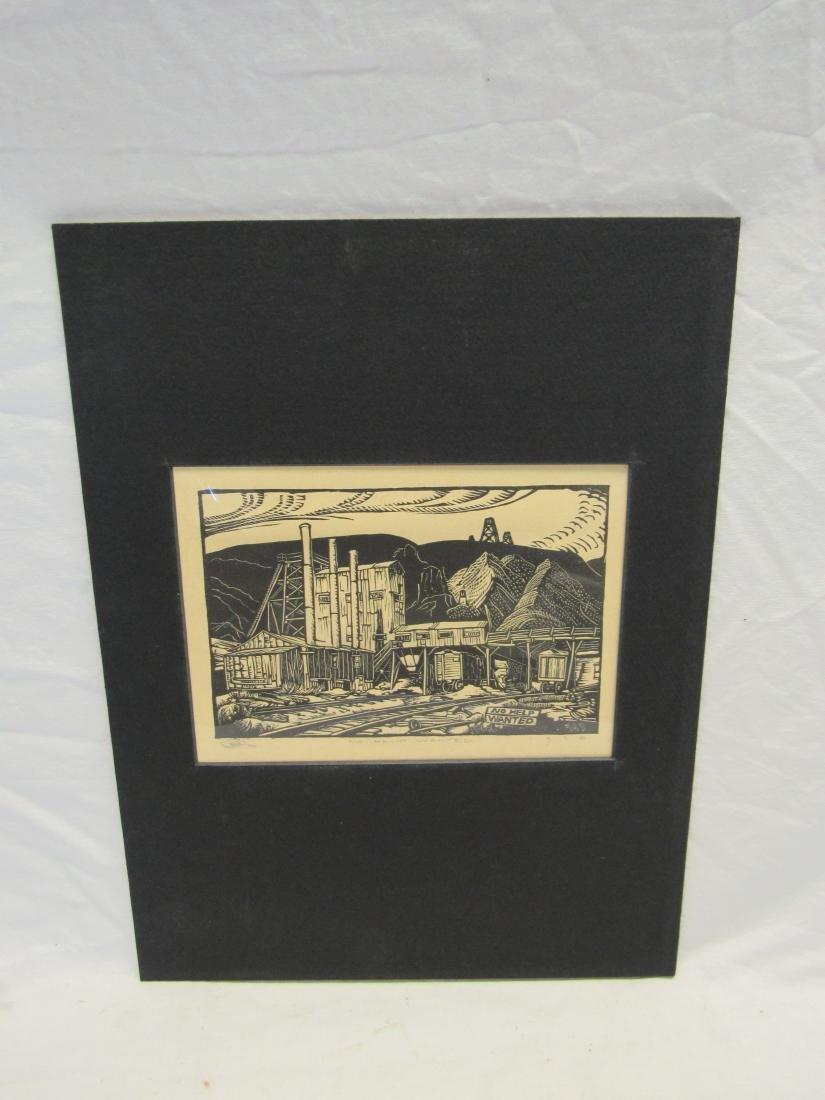 Earl Washington Wood Block Print, No Help Wanted