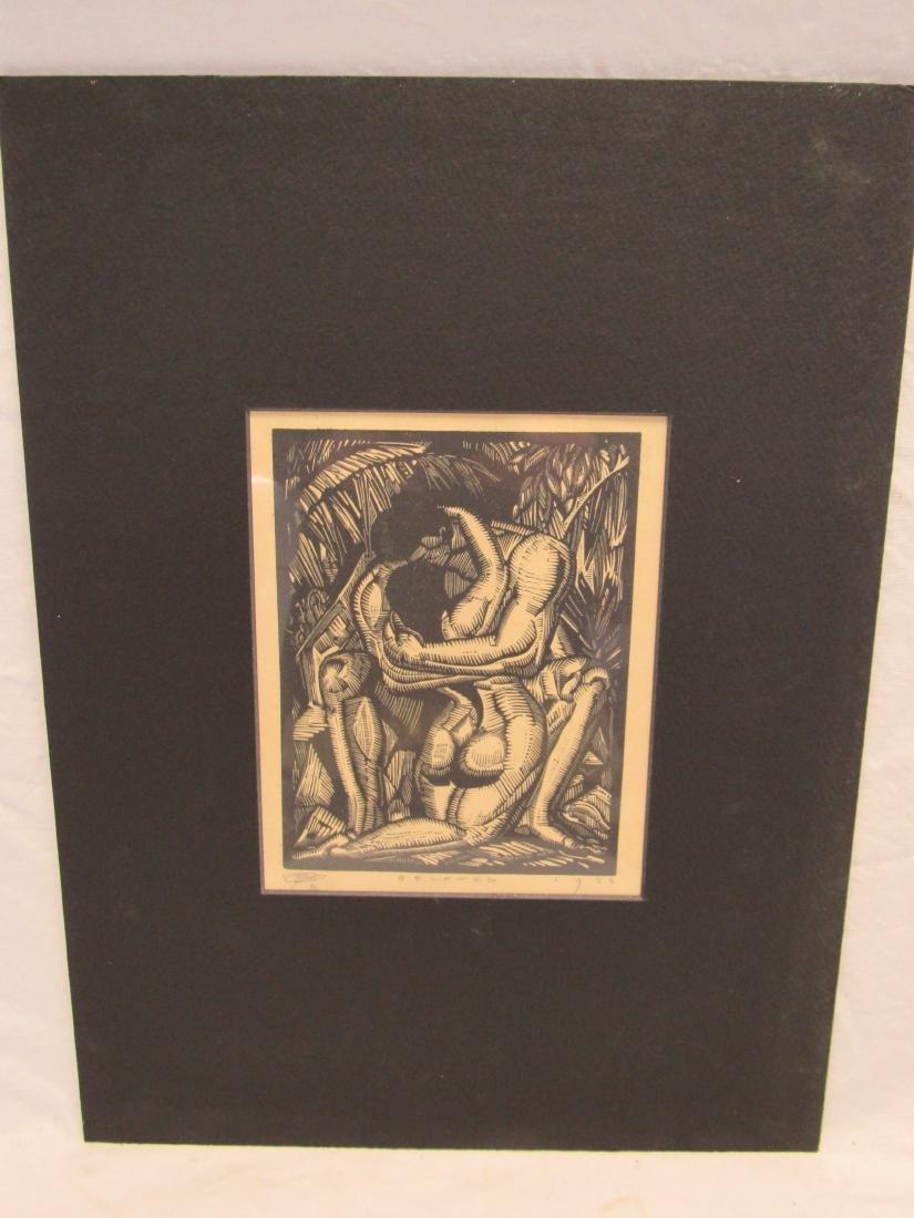 Earl Washington Wood Block Print, Beloved
