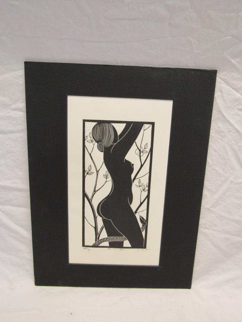 Earl Washington Wood Block Print, Eve