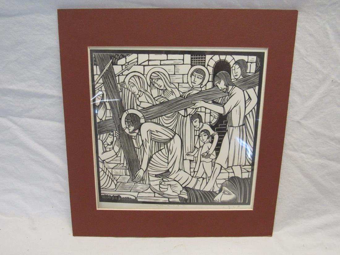 Earl Washington Wood Block Print, Christ