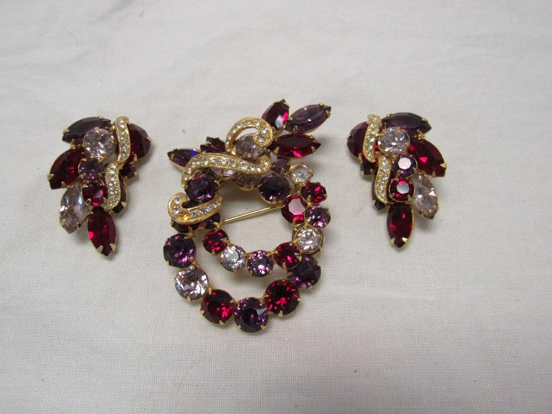 Eisenberg Earrings and Brooch