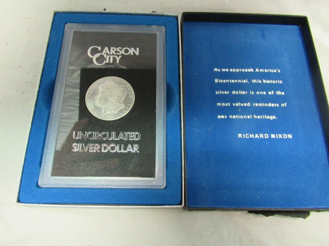 Carson City Uncirculated Silver Dollar
