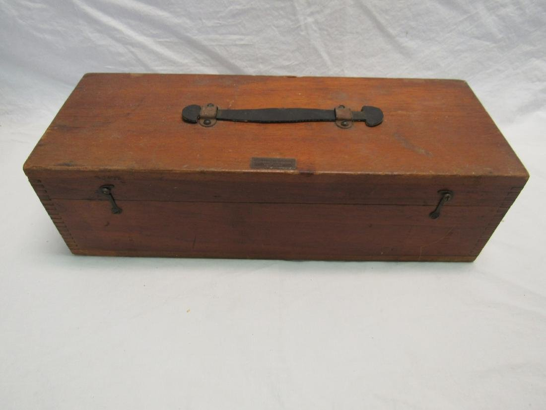 Antique Elmer & Amend Box with Antique Thermometers