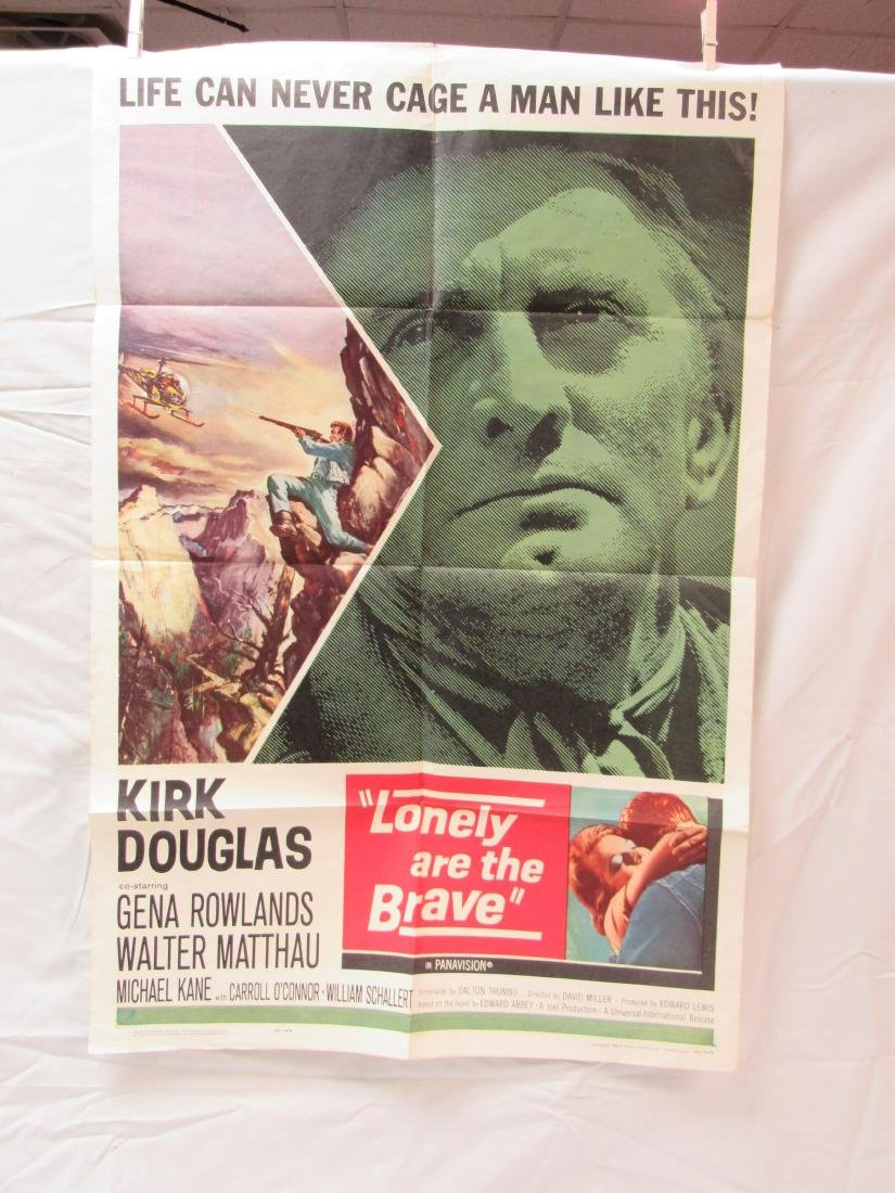 Original Lonely Are the Brave Theatrical Movie Poster