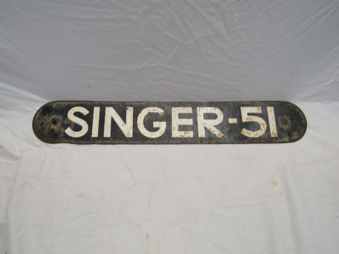 Singer-51 Metal Sign