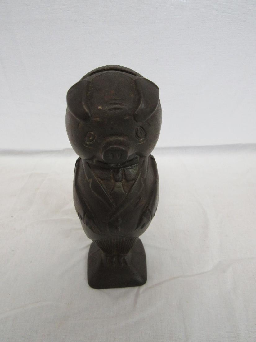 Vintage Pig Cast Iron Piggy Bank