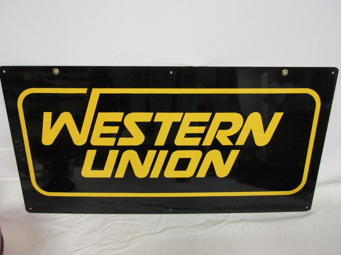 Vintage Double Sided Western Union Sign