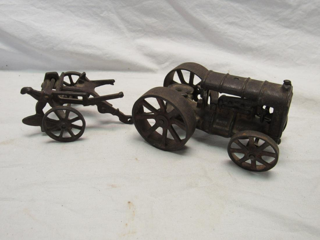 Antique Cast Iron Tractor and Turning Plow