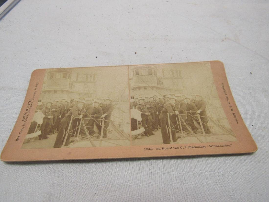 B.W. Kilburn 1898 Stereo view Navy Sailors