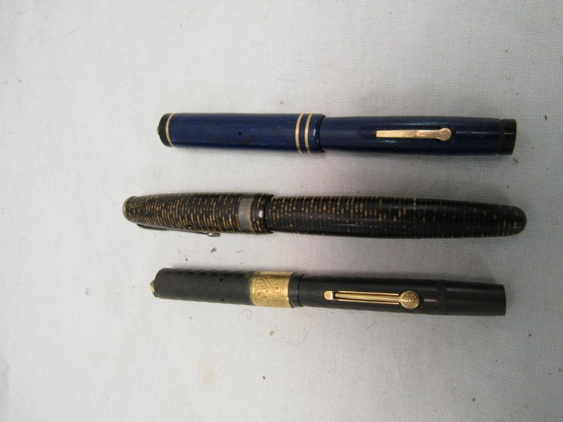Lot of 3 Antique Fountain Pens