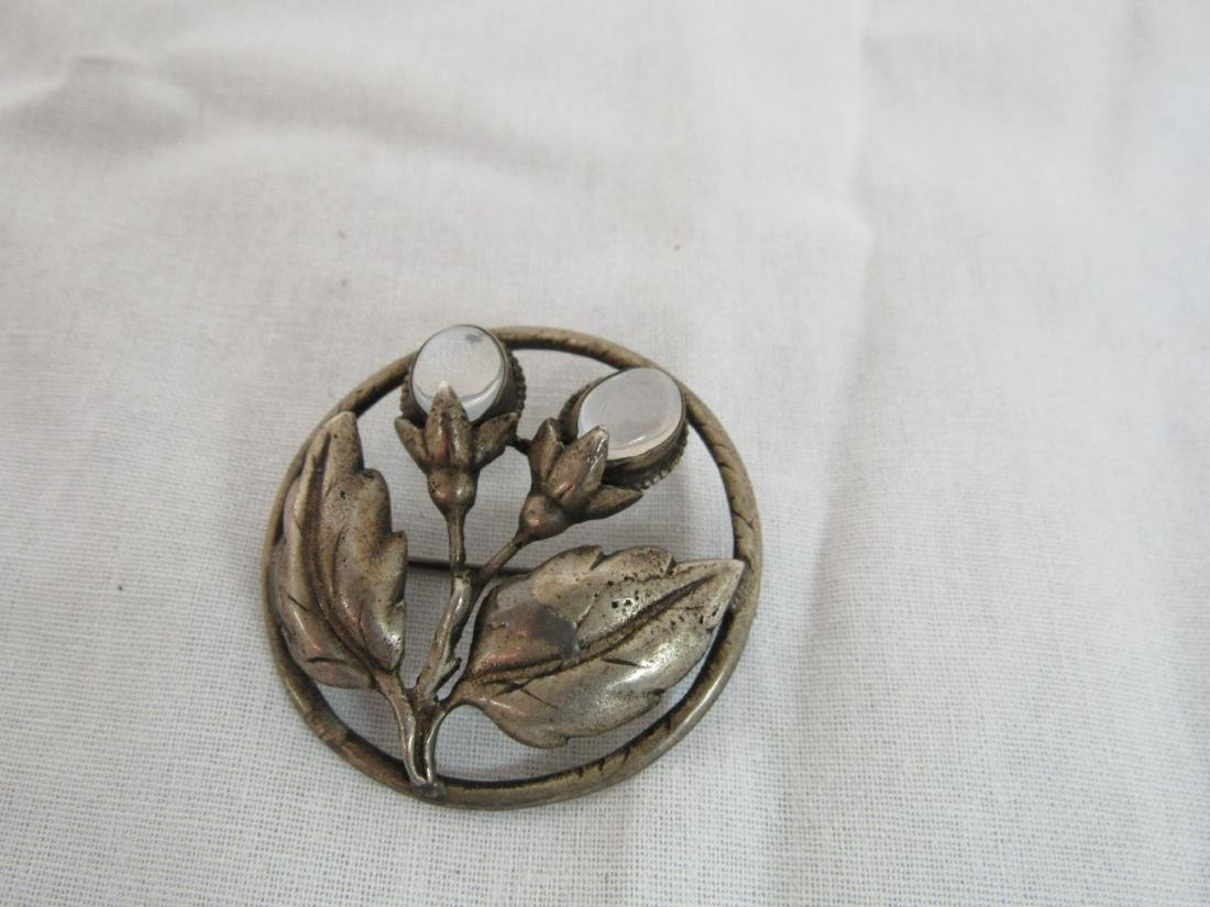 Antique Sterling and Moonstone Pendant