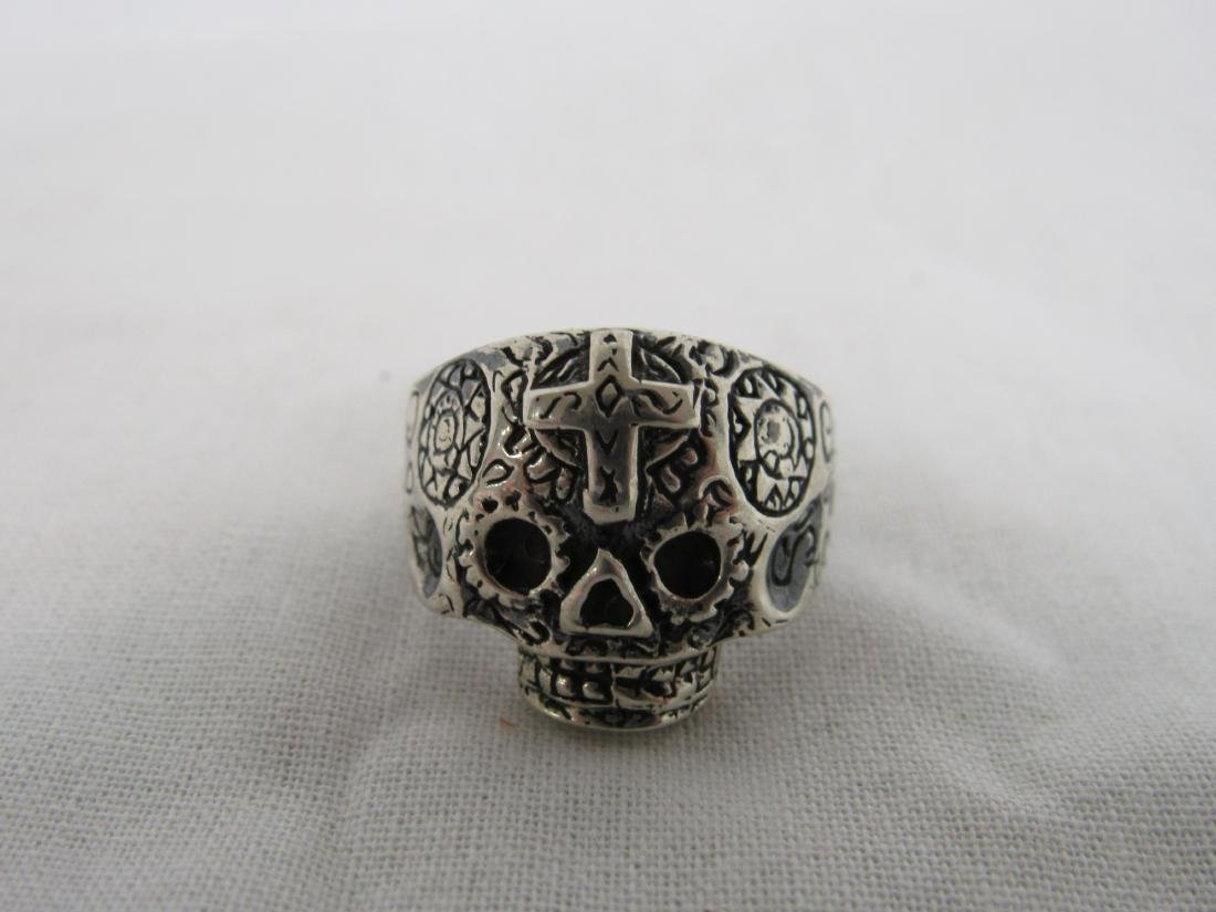 Sterling Silver Men's Skull Ring