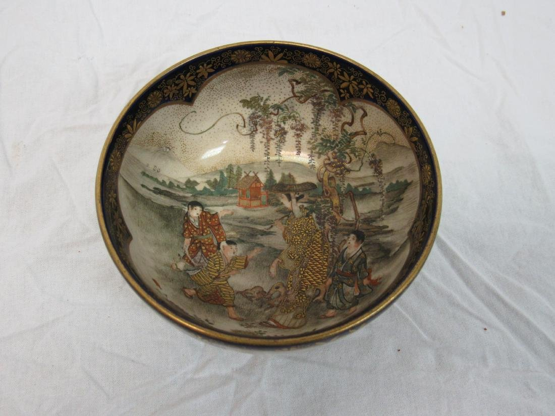 Early Hand Painted Asian Bowl