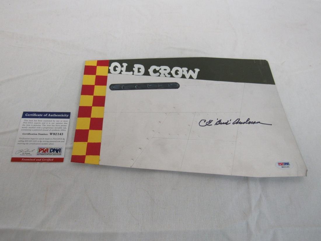 """WWII C.E. Pilot """"Bud"""" Anderson Signed 8x12 Original"""