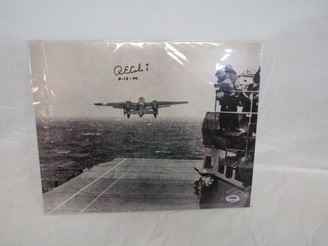 "WWII Pilot Richard E. Cole Signed ""Doolittle Raid"""