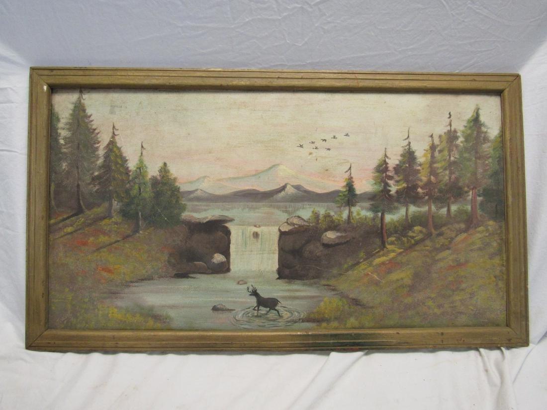 Original T. Ward Oil on Board