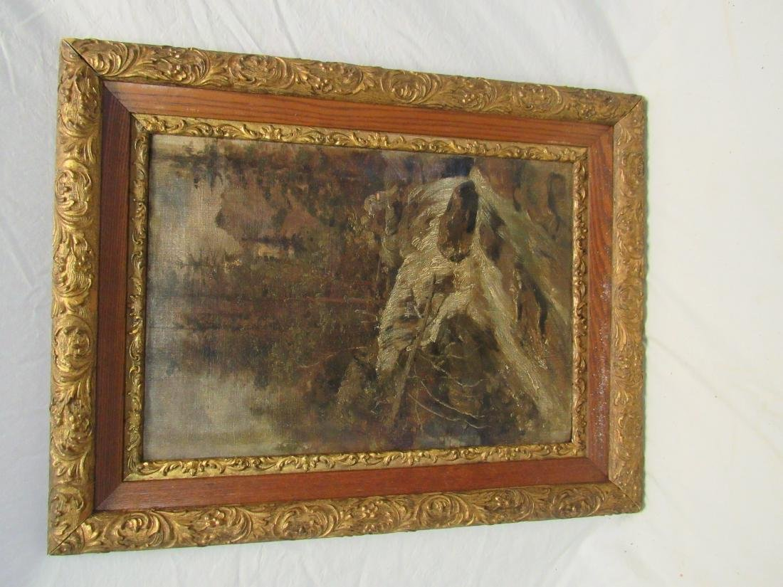 Antique Oil on canvas in Period Frame