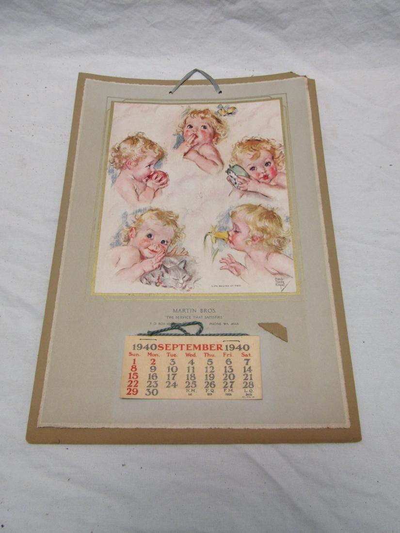 Martin and Bros 1940 Calendar