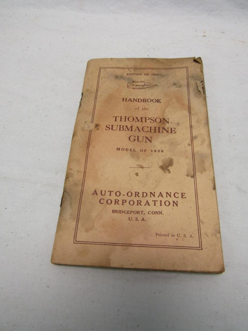 1940 Edition Handbook of the Thompson Submachine Gun