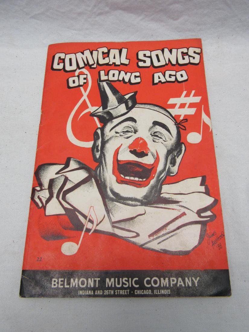 Comical Songs of Long Ago Song Book