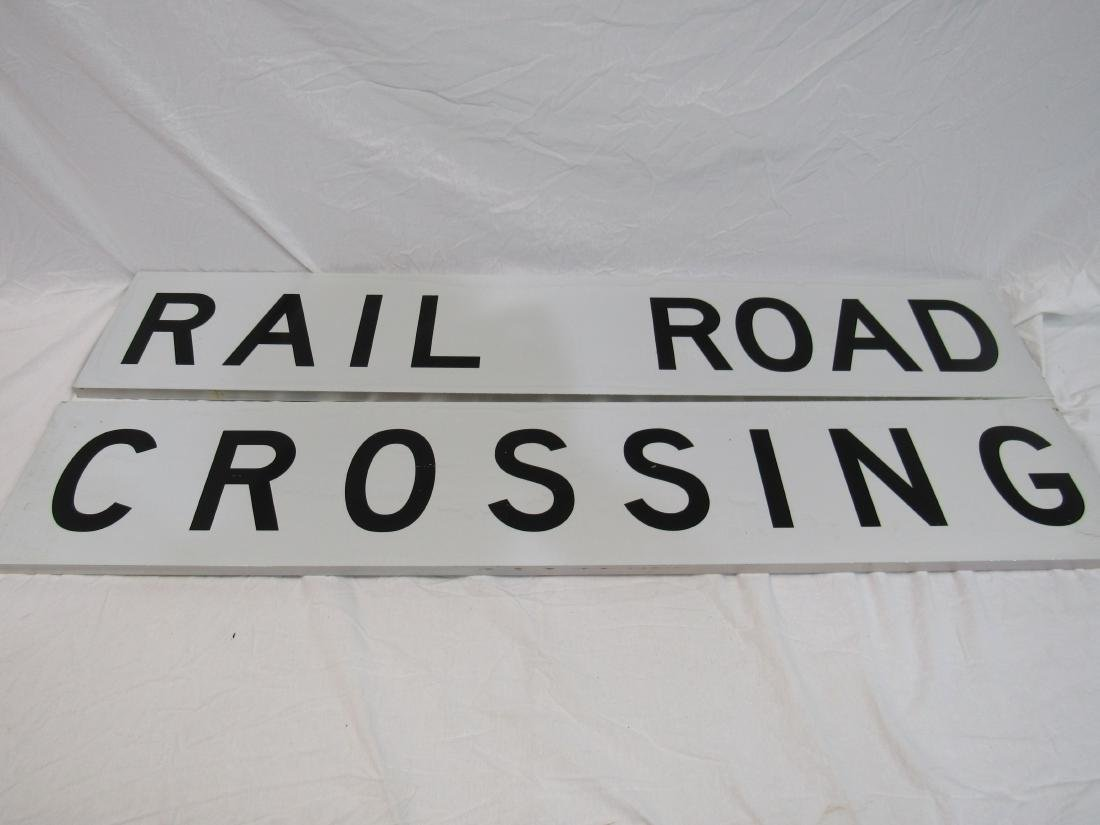 NOS Railroad Crossing Signs (2)
