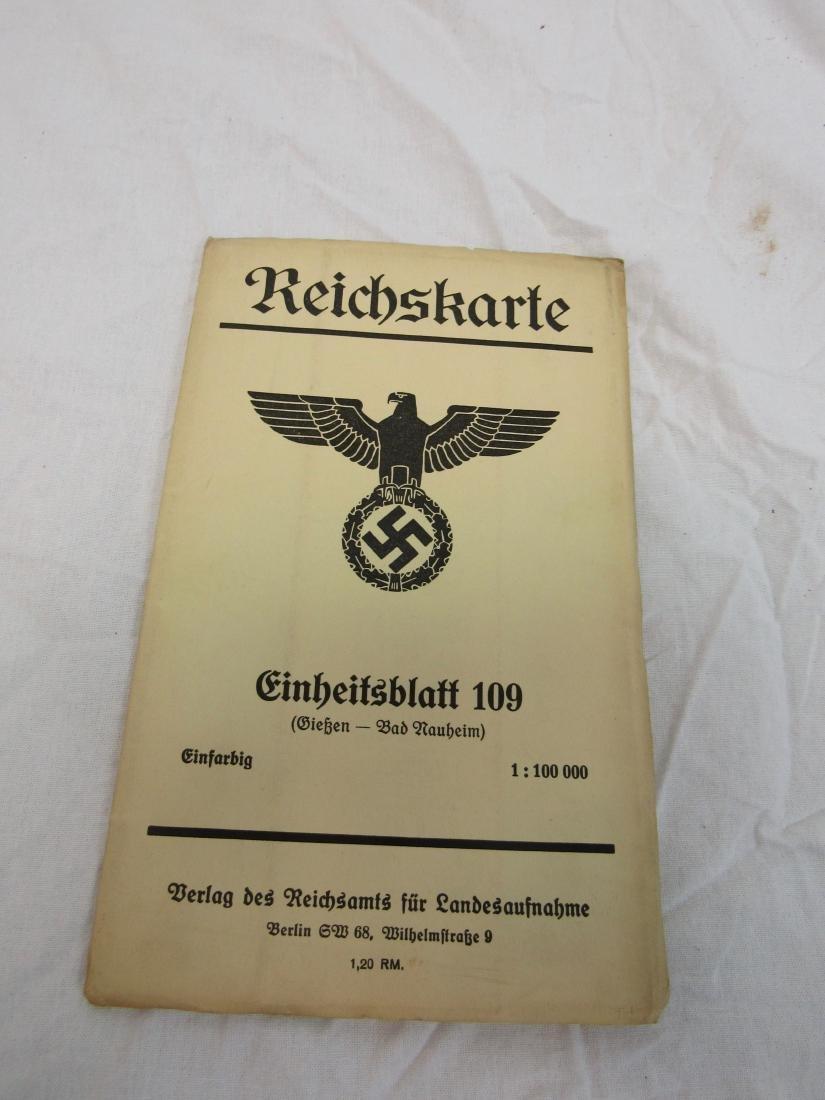 Period Nazi Map Dated 1936