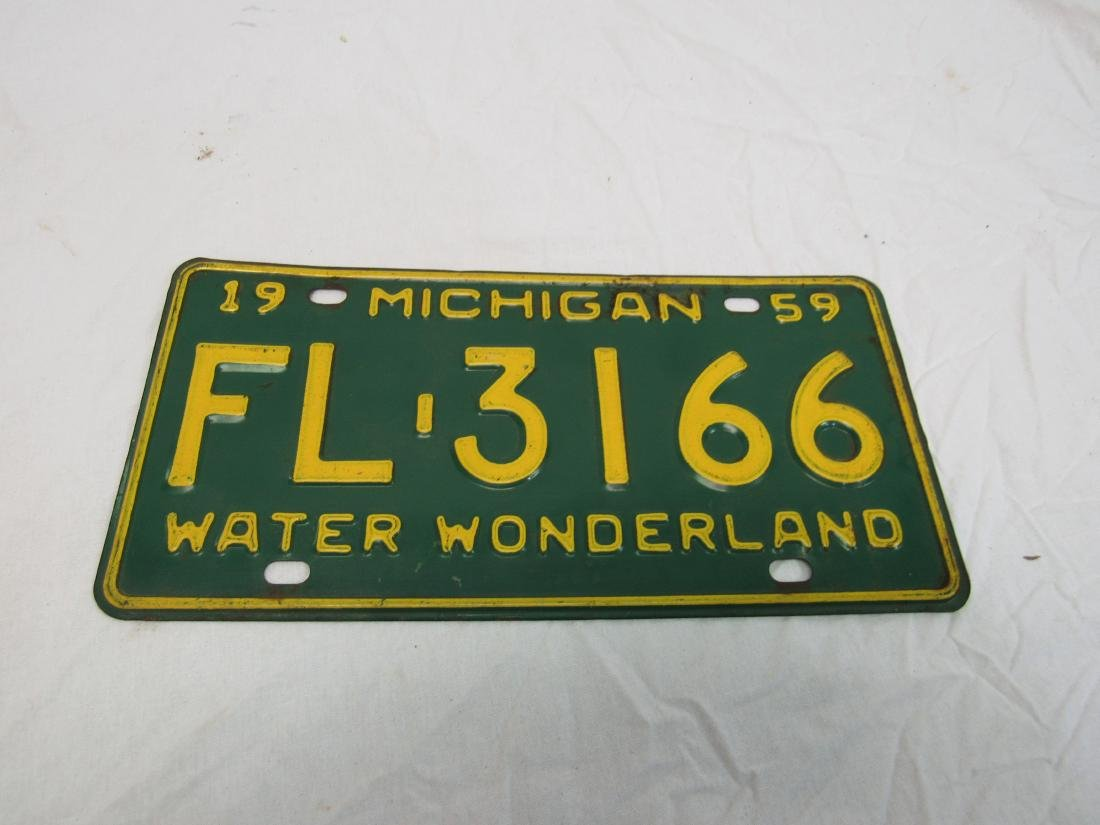 1959 Michigan License Plate