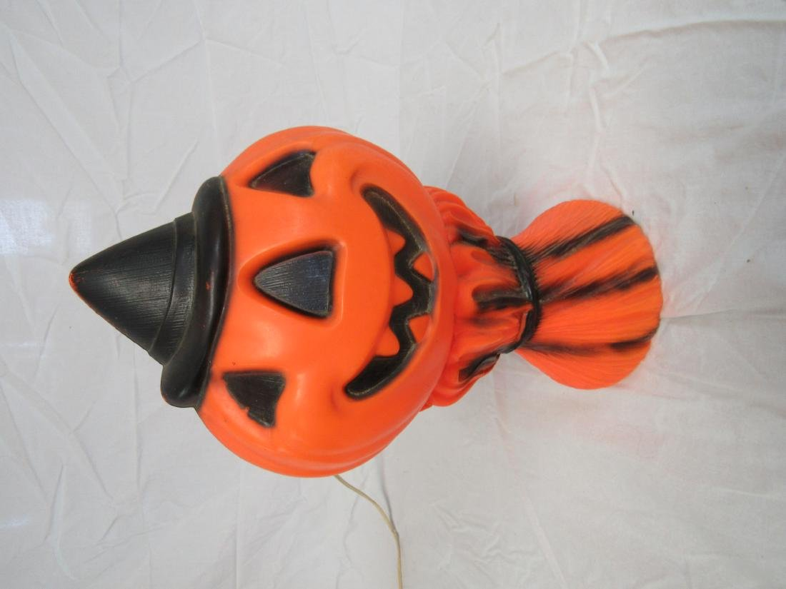 Vintage 1969 Blow Mold Pumpkin