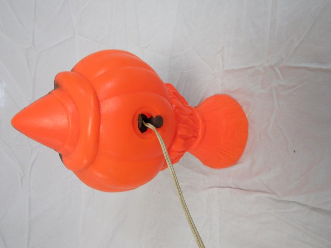 Vintage 1969 Blow Mold Pumpkin - 3