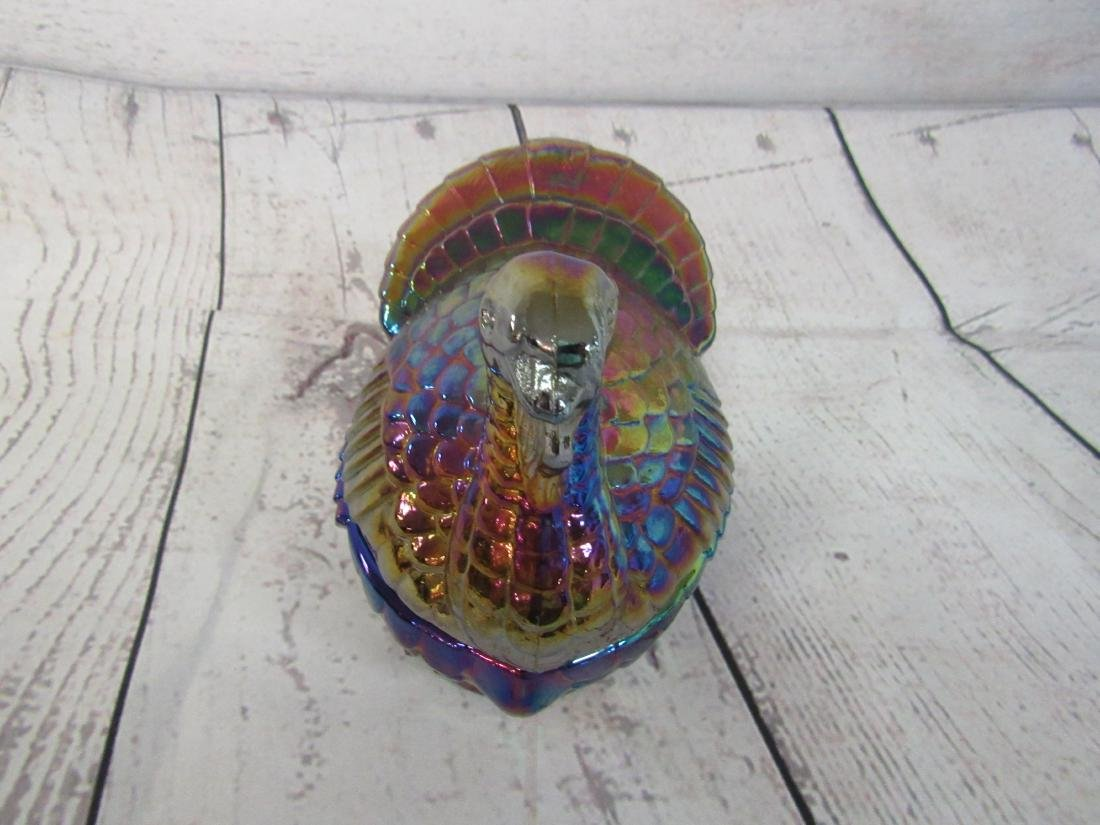 Imperial Carnival Glass Turkey Box - 3