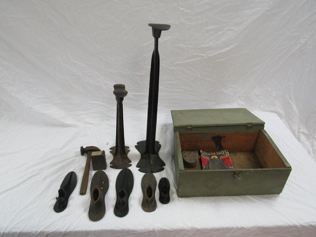 Antique Shoe Last / Shoe Repair Set