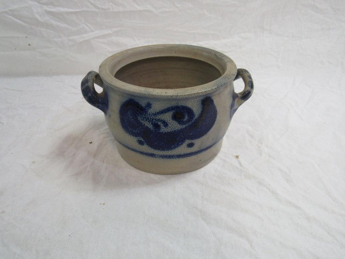 Salt Glazed and Cobalt Vessel