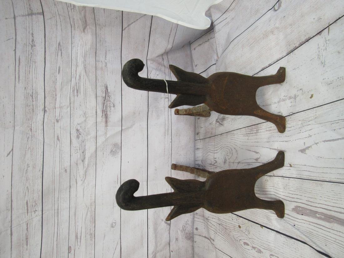 Cast Iron Cat Andirons