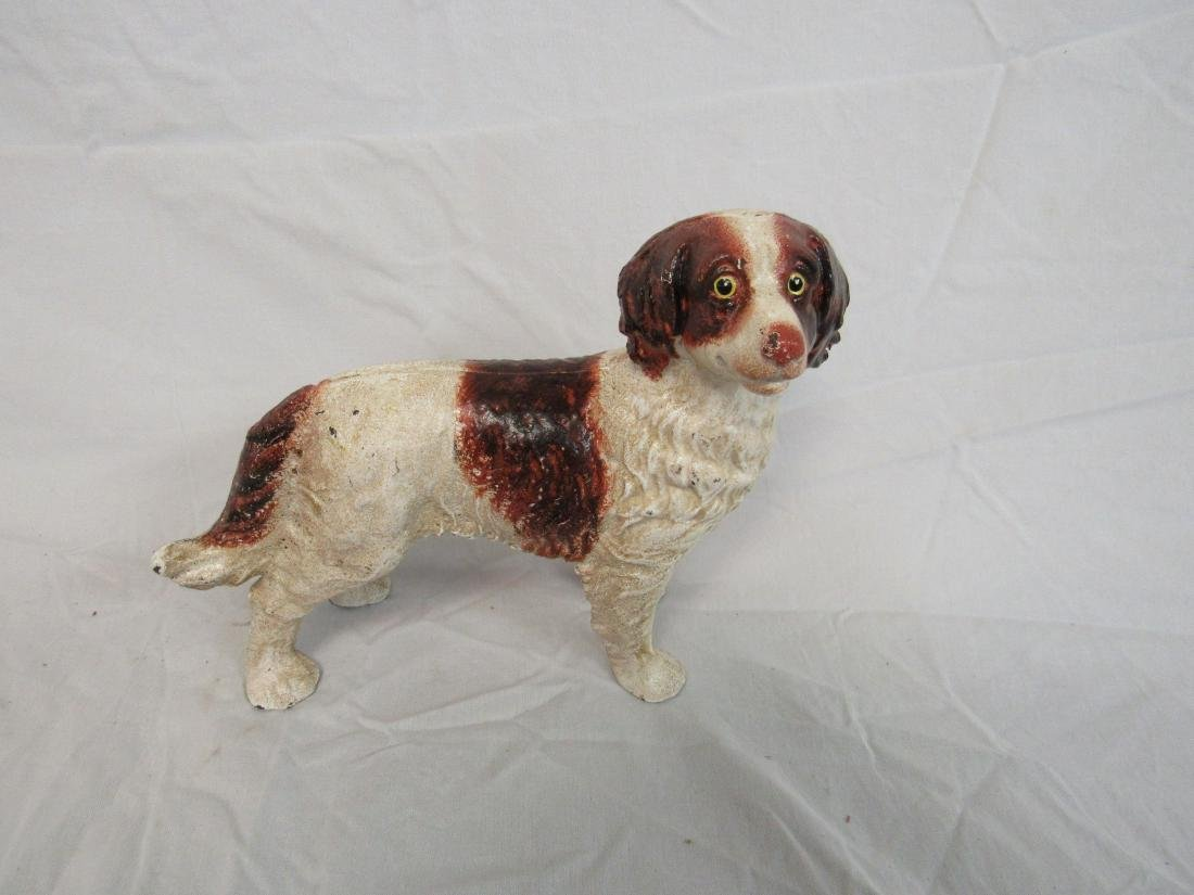 Antique Cast Iron Spaniel Doorstop