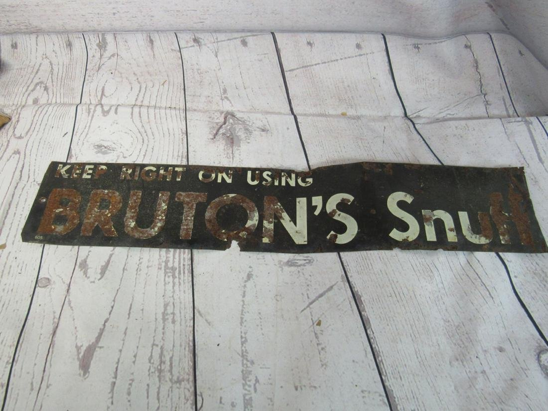 Burton's Snuff Tin Tacker Sign