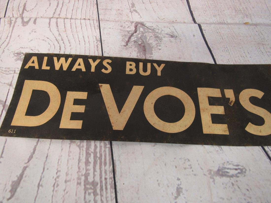DeVoe's Snuff Tin Tacker Sign - 2
