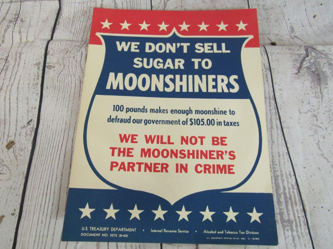 US Treasury Department Moonshine Sign - 2