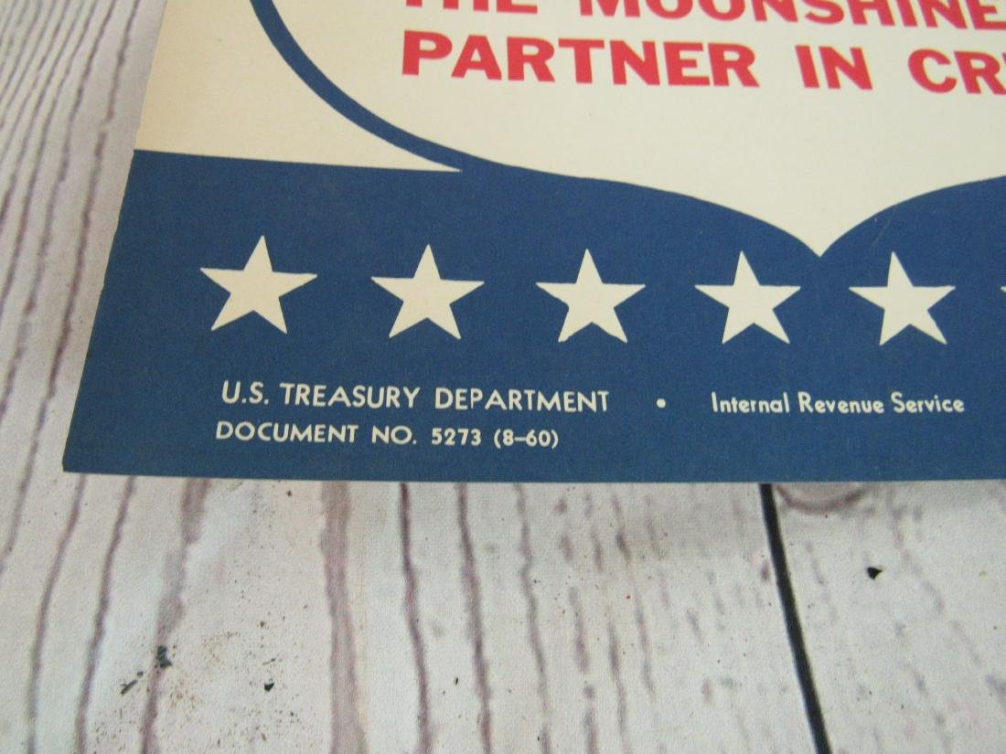 US Treasury Department Moonshine Sign - 3