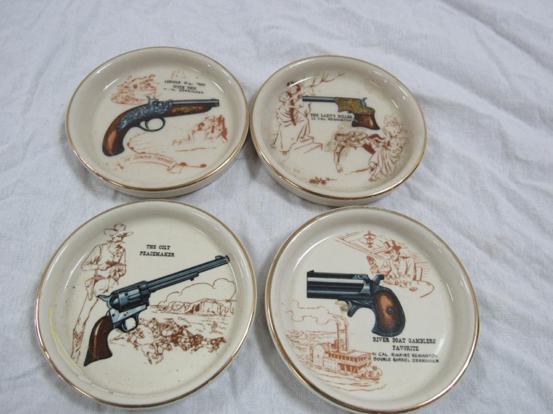 Lot of 4 Firearm Coasters