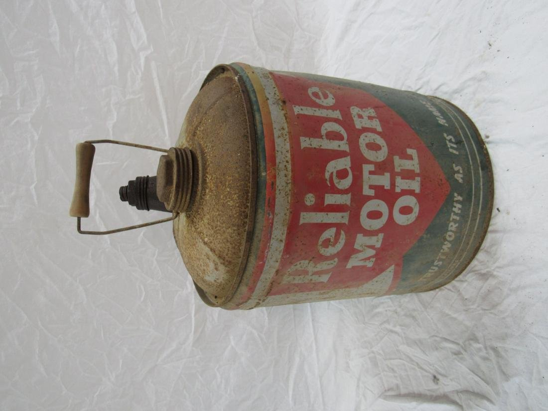 Vintage Reliable Motor Oil Can