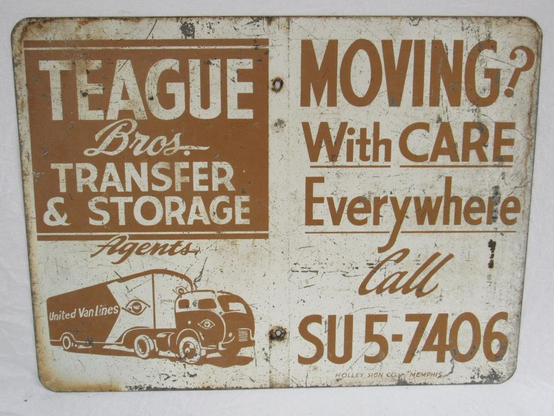 Vintage Teague Brother Transportation Sign