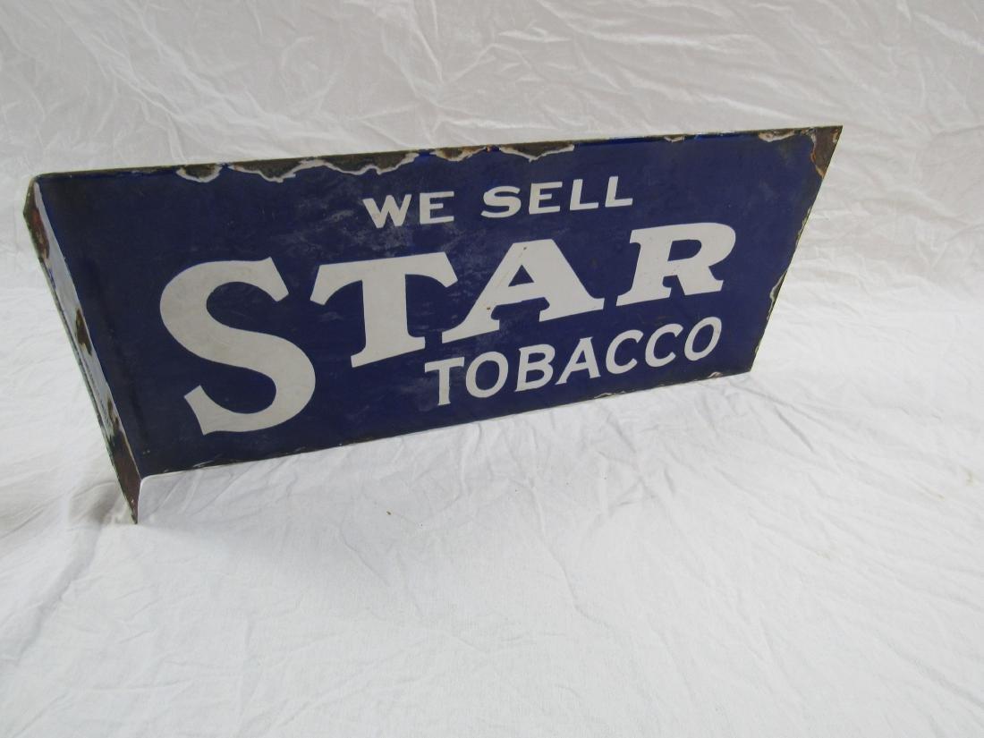 Star Tobacco Porcelain Flange Sign