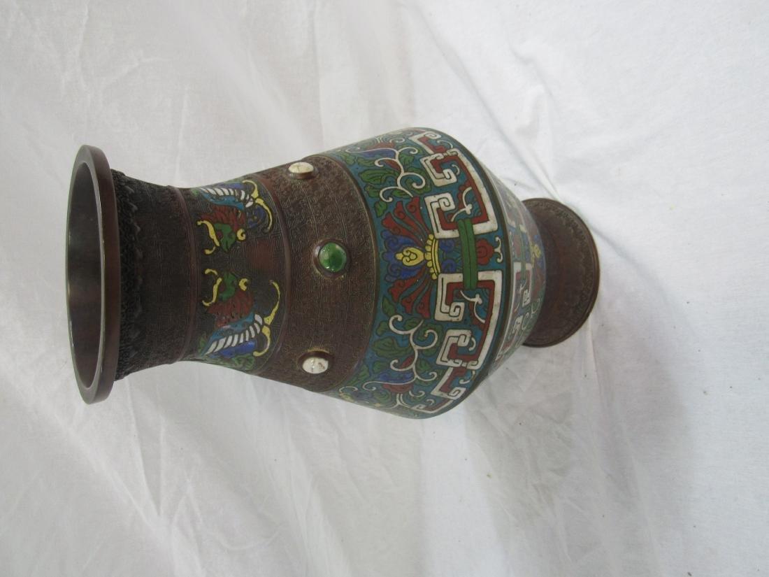 Champlevé Bronze Vase