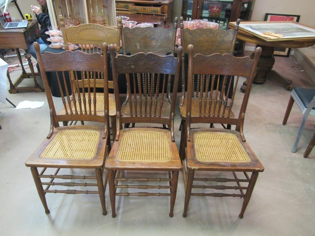 Lot of 6 Antique Oak Chairs