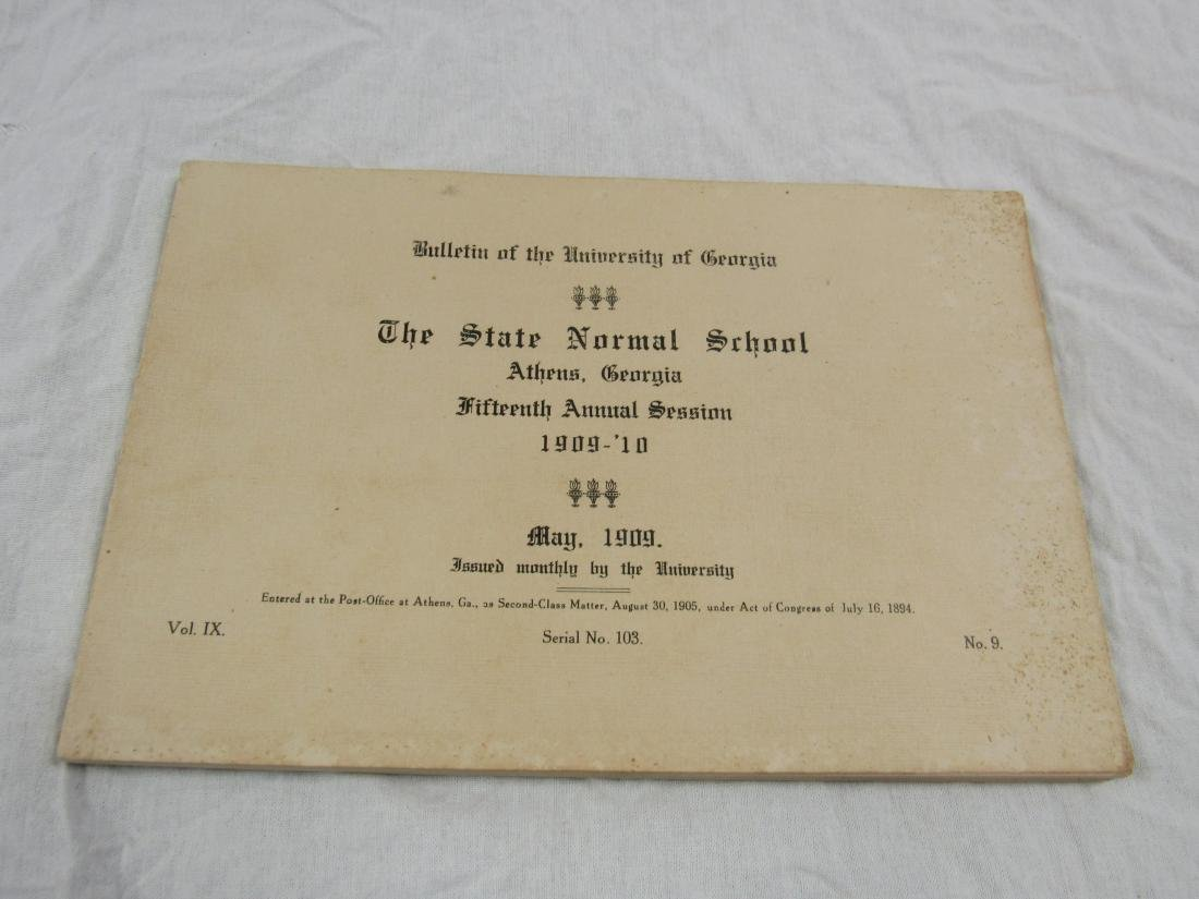 1909 UGA The State Normal School Booklet