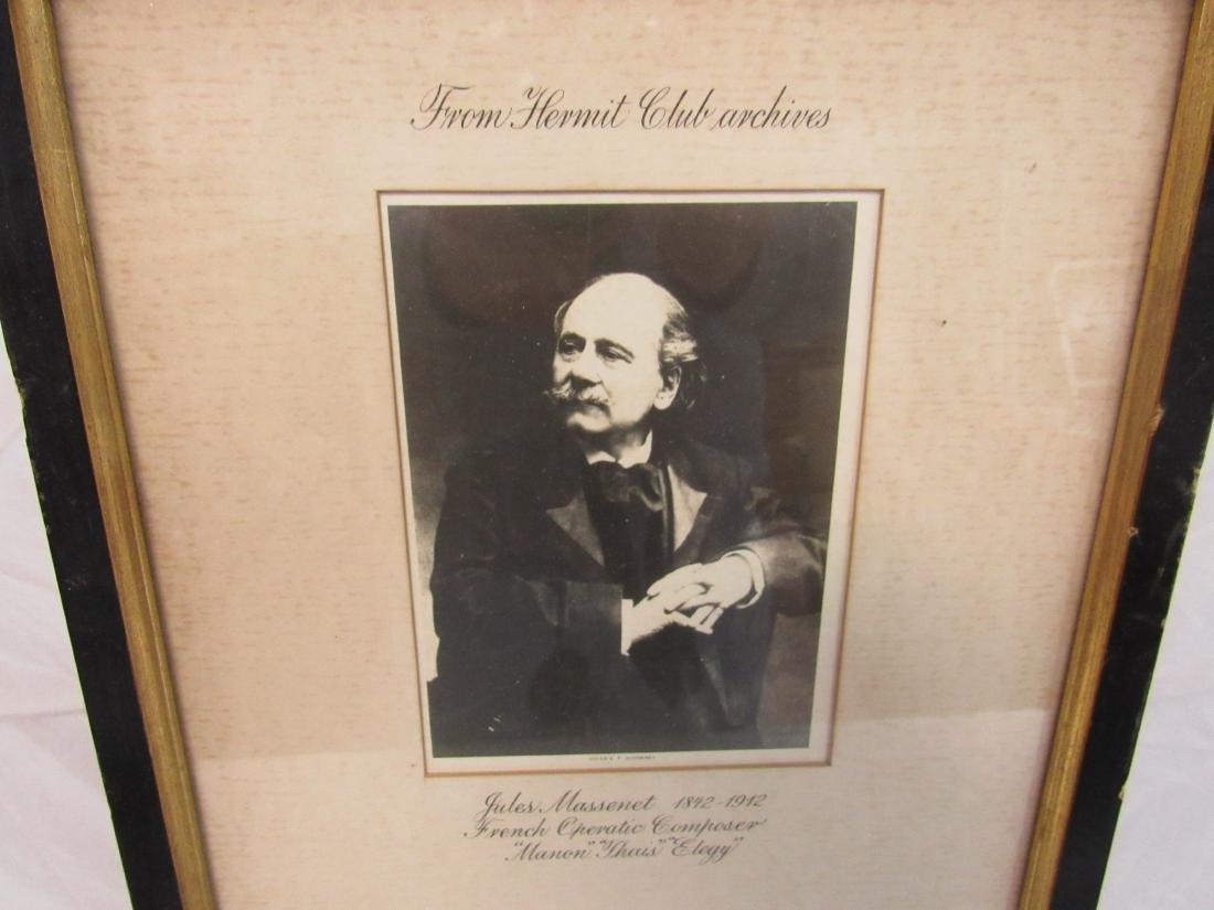 Autographed Letter of Composer Jules Massenet - 2