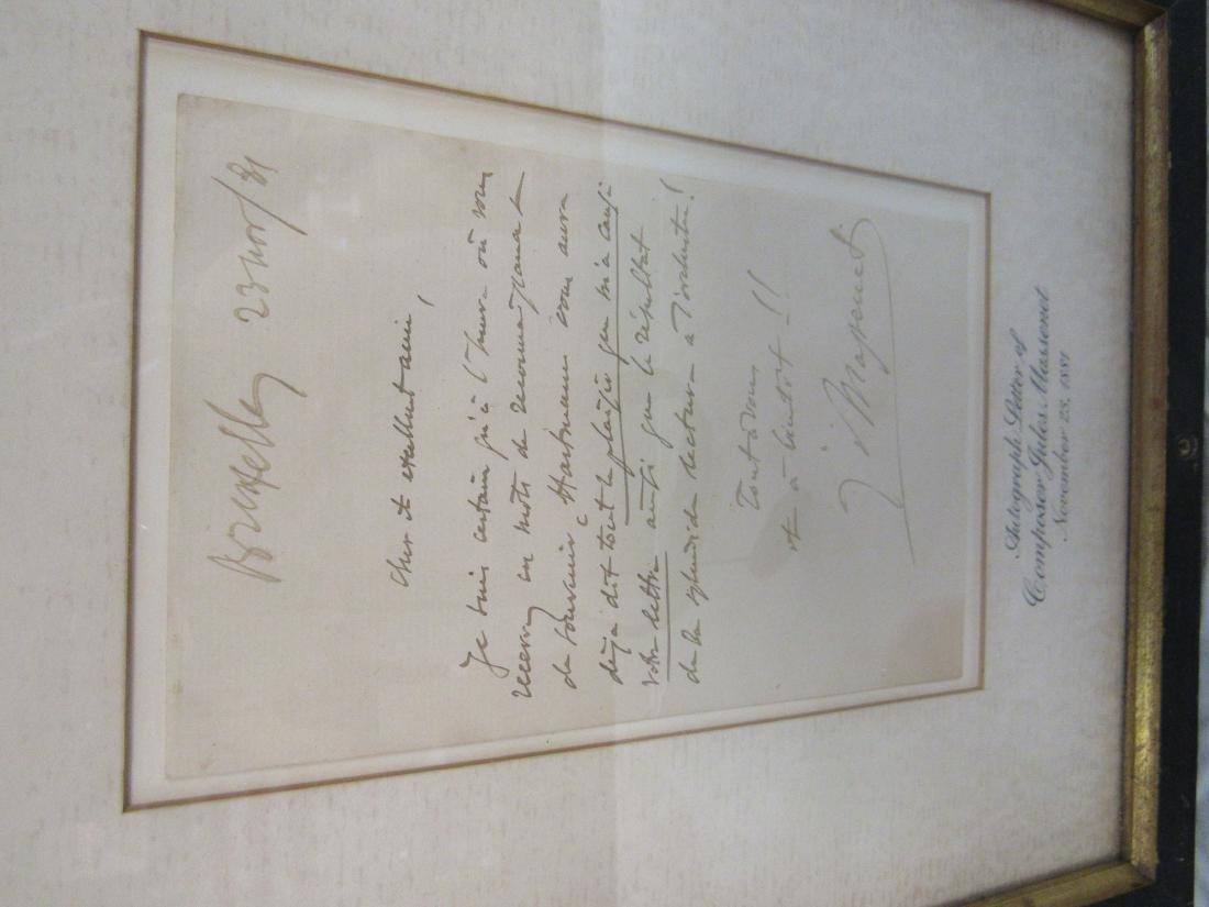 Autographed Letter of Composer Jules Massenet - 3