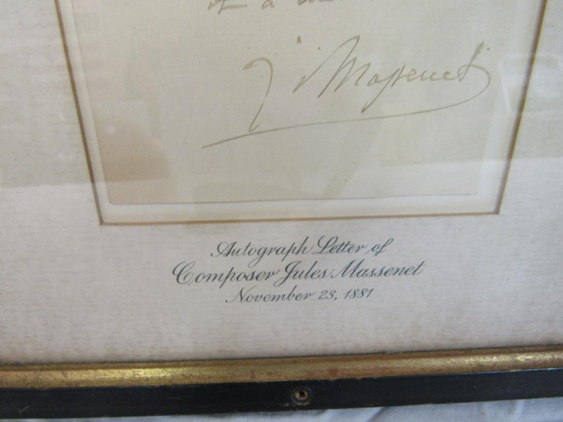 Autographed Letter of Composer Jules Massenet - 4