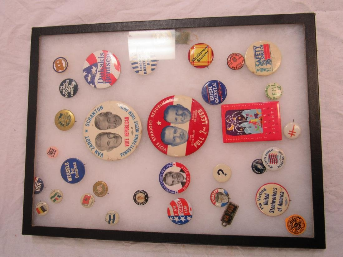 Lot of Political and Advertising Pins